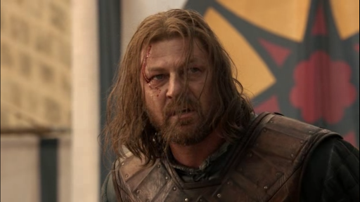 "Sean Bean as Ned Stark in Game of thrones ""Baelor"""