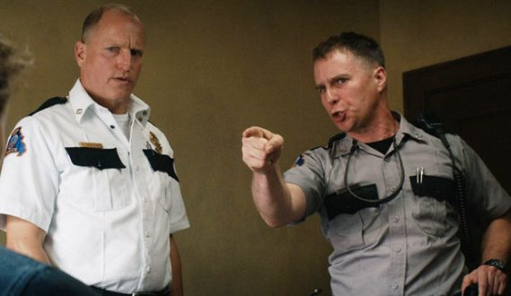 Woody Harrelson and Sam Rockwell In Three Billboards Outside Ebbing, Missouri