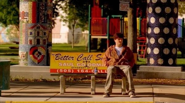 Badger At The Bus Stop In Breaking Bad, Season 2, Episode 8