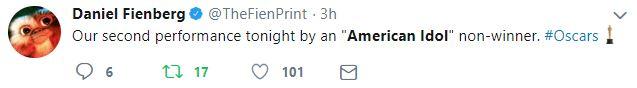 Daniel Fienberg's American Idol Tweet