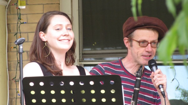 Members of the jazz group Barley & Rye at the 2018 West Philadelphia Porchfest