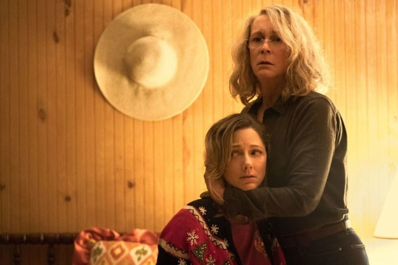 (L-R Judy Greer and Jamie Lee Curtis in Halloween)