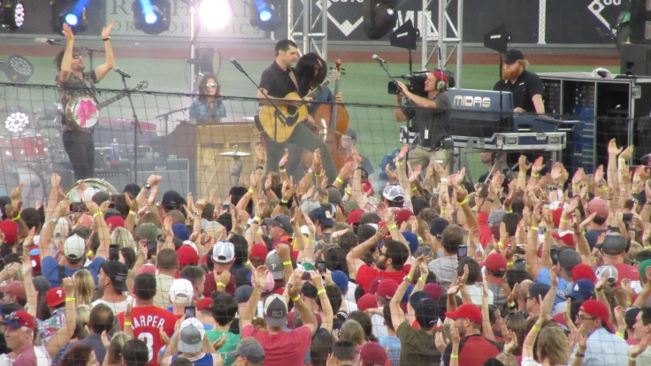 Avett Brothers Phillies Postgame concert at Citizens Bank Park, 6/8/19