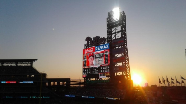 Citizens Bank Park Scoreboard