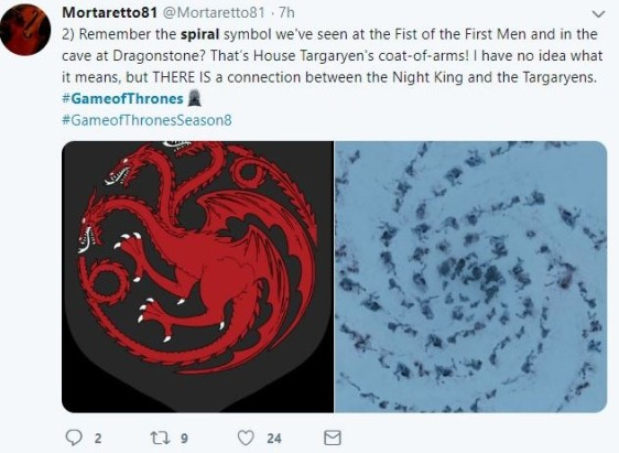 Game of Thrones Spiral theory two