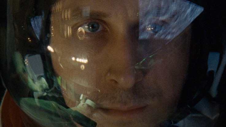 One of many closeups of Ryan Gosling in First Man