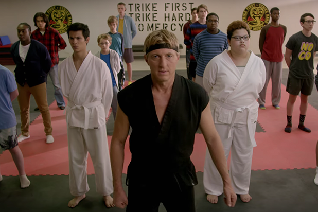 William Zabaka and the new Cobra Kai class