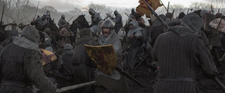 Chris Pine as Robert the Bruce during the Battle of Loudoun Hill in The Outlaw King
