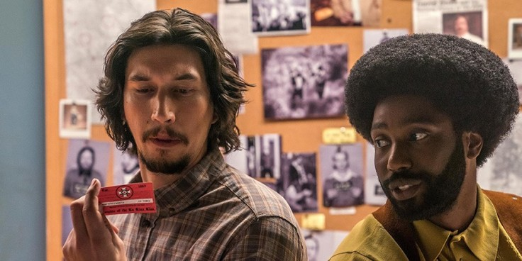 (L-R) Driver and Washington in BlacKkKlansman