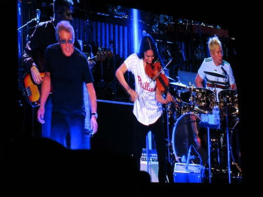 Roger Daltrey, Katie Jacoby of The Who At Citizens Bank Park