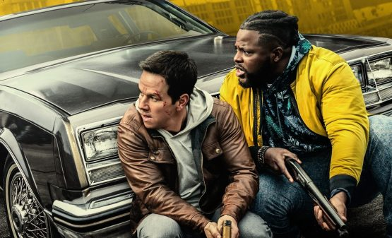 Winston Duke and Mark Wahlberg in Netflix's Spenser Confidential